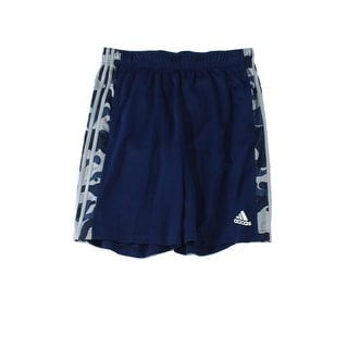 Adidas NEW Blue Mens Size Large L Pull-On Printed Training Shorts