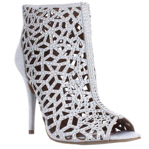 ZiGi Soho Drift Caged Rhinestone Evening Sandals - Silver - 7 us