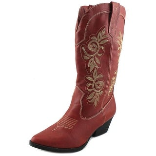 Rampage Vida Red Stitched Western Boots