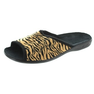 Sc Home Collection Womens Open Toe Animal Print Slippers