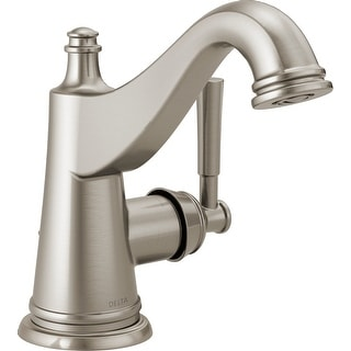 Delta 15777LF  Mylan 1.2 GPM Deck Mount Single Hole Bathroom Faucet with Pop-Up Drain Assembly