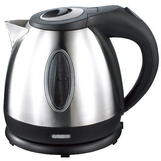 Culinary Edge ET1740 Electric Cordless Stainless Steel Tea Fast Water Kettle with Auto Shut-off, Black, 1.2 Liter