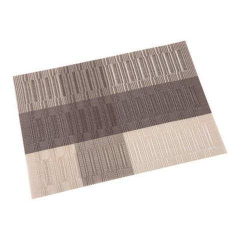 Lot Heat Resistant Pvc Kitchen Dinning Stripe Table Placemats For Table Mat Manteles Doilies Cup Mats Coaster Pad