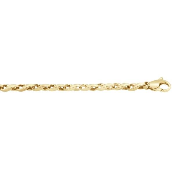 Men's 10K Gold 8 inch Fancy Link Chain Bracelet