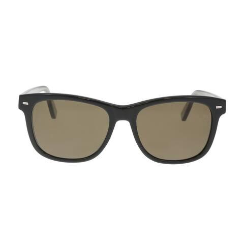 Ermenegildo Zegna EZ0028-N 01M Black/Gold Square Sunglasses - 54-16-145