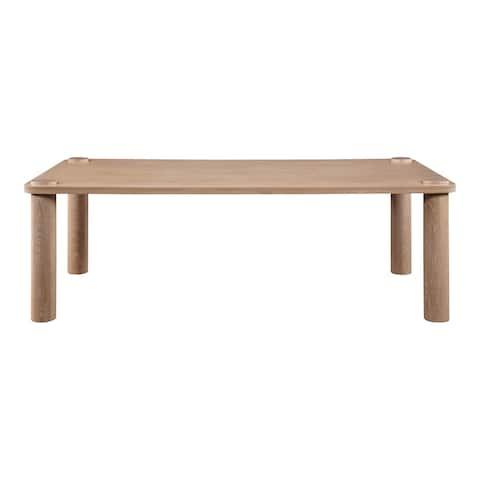 Aurelle Home Modern Solid White Oak Rectangular Dining Table