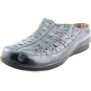Array Emma Women N/S Round Toe Leather Blue Mules