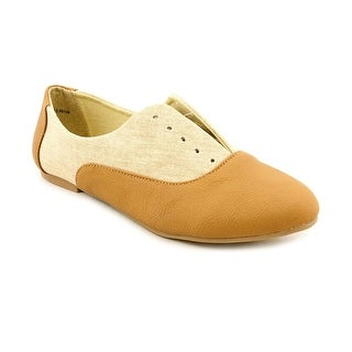 Dirty Laundry Off the Wall Women Round Toe Canvas Tan Flats