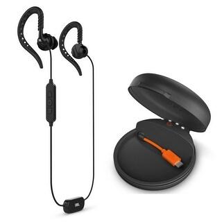 JBL Focus 700 In-Ear Wireless Sport Headphones with Charging Case - Black - 7.3 x 6 x 2.5