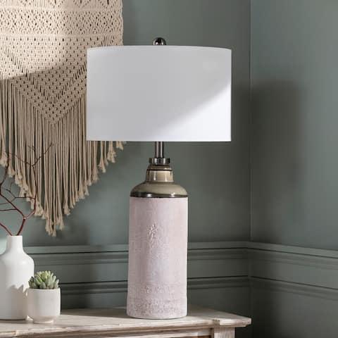 "Lana 32-inch Crackle Ceramic Table Lamp - 32""H x 16""W x 16""D"