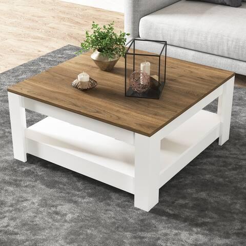 Grado Coffee Table with Storage Shelf - 35 x 35