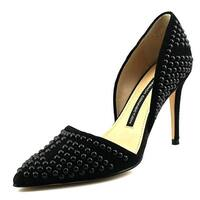 French Connection Ellis Women  Pointed Toe Suede Black Heels