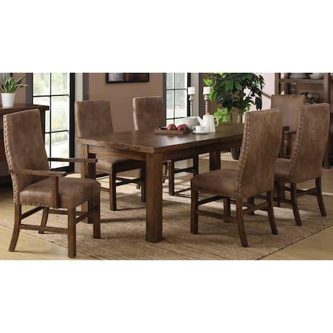 Copper Grove Foa 7-Piece Rustic Dining Room Set