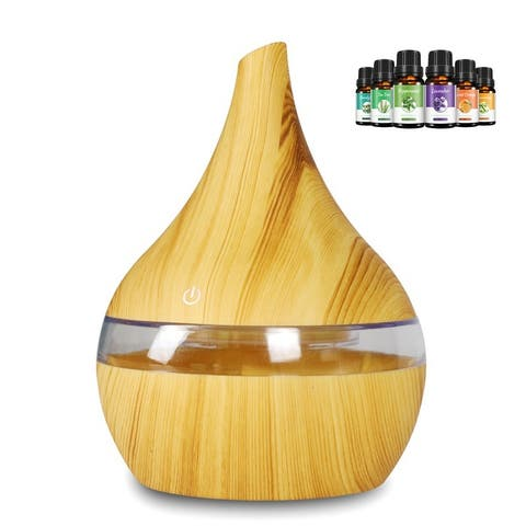 300ml USB Essential Oil Diffuser 7-Color Changing Air Humidifier Aromatherapy Aroma Atomization Purifier Touch Control