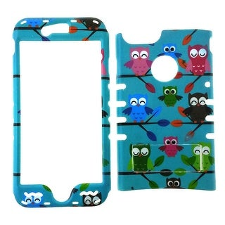 Rocker Snap-On Case for iPhone 7-Colorful Owls on Blue