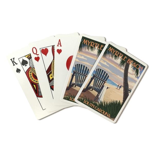 Myrtle Beach, SC - Adirondack & Palms - LP Artwork (Poker Playing Cards Deck)