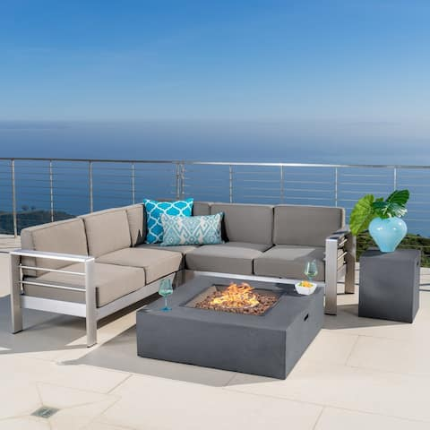 Cape Coral Outdoor 5-piece Sofa Set by Christopher Knight Home
