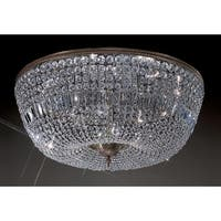 "Classic Lighting 52036-RB 15"" Crystal Flushmount from the Crystal Baskets Collection"