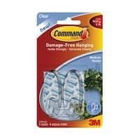 Command 17092CLR Clear Small Hooks With, Clear Strips