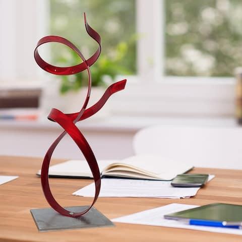 Statements2000 Metal Art Accent Sculpture Centerpiece Indoor Outdoor Decor by Jon Allen - Red Allure