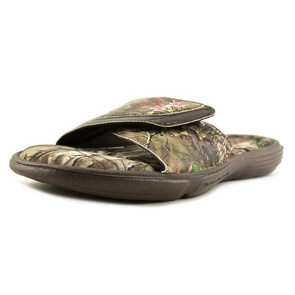Under Armour Ignite Camo VII Women Open Toe Synthetic Multi Color Slides Sandal