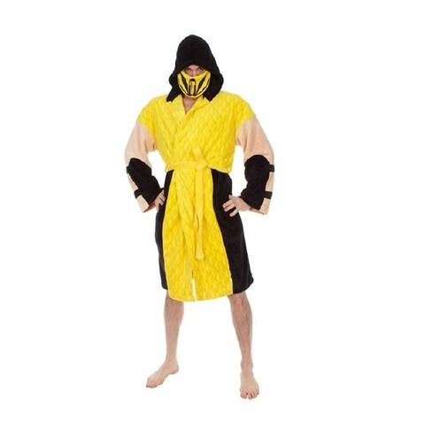 Mortal Kombat Adult Costume Robe, Scorpion - YELLOW