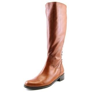 Sesto Meucci 994981 Round Toe Leather Mid Calf Boot