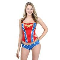 Wonder Woman Printed Corset And Panty Set