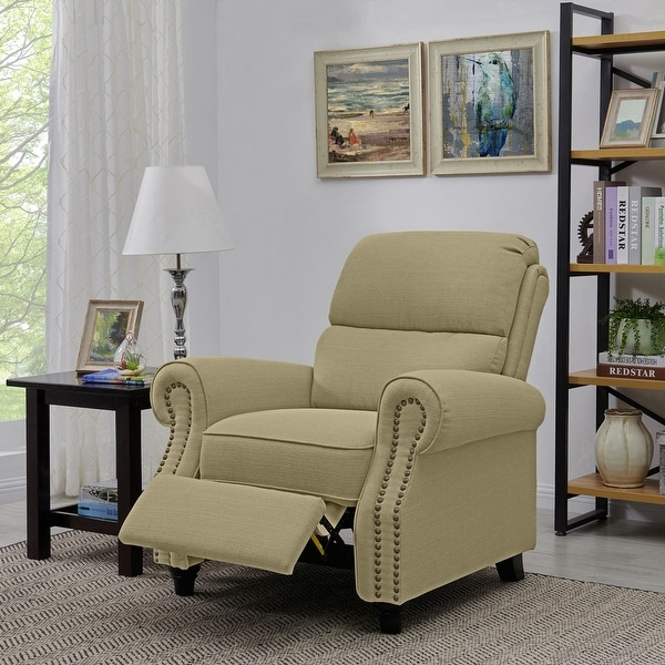 Copper Grove Jessie Tan Push Back Recliner Chair. Opens flyout.