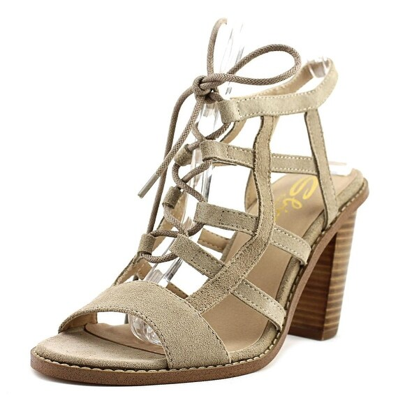 Sbicca Sanni Women Open Toe Leather Tan Sandals
