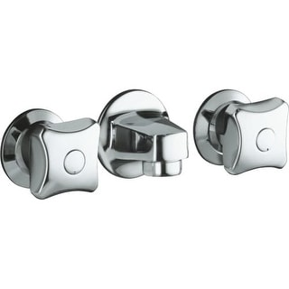 Kohler K-8046-2A Triton shelf-back lavatory faucet with grid drain and standard handles
