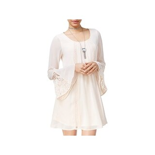 Sequin Hearts Womens Juniors Cocktail Dress Crepe Lace - XL