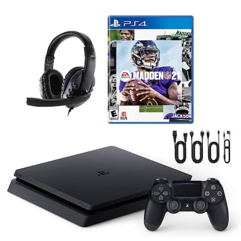 PlayStation 4 Slim with Madden 21 and Universal Headset - Black