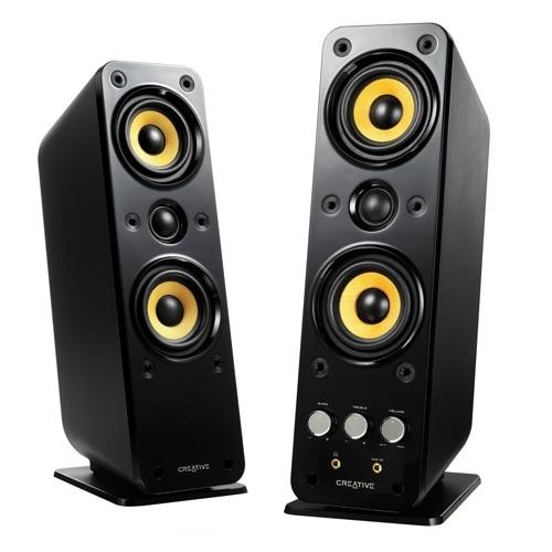 Creative Labs 51Mf1615aa002 Gigaworks Series Ii T40 2.0 Speaker Systems, Black