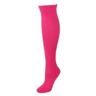 CTM® Pink Tube Socks (2 Pair Pack) Extended Size Available (2 options available)