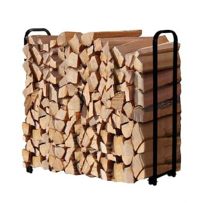 Outdoor 4 Foot Firewood Storage Log Rack Heavy duty Holder