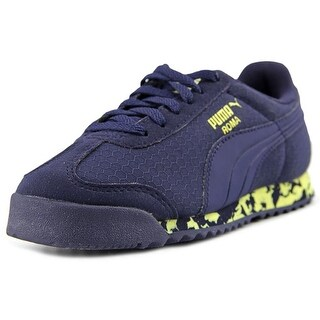 Puma Roma MS Print PS Boy Peacoat-Limelight Athletic Shoes