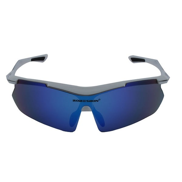 ROBESBON Authorized Unisex Riding Polarized Goggles Lens Cycling Glasses White