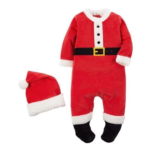 fe62b5502 Shop Carters Boys 0-9 Months Santa Claus Christmas Sleeper - Free ...