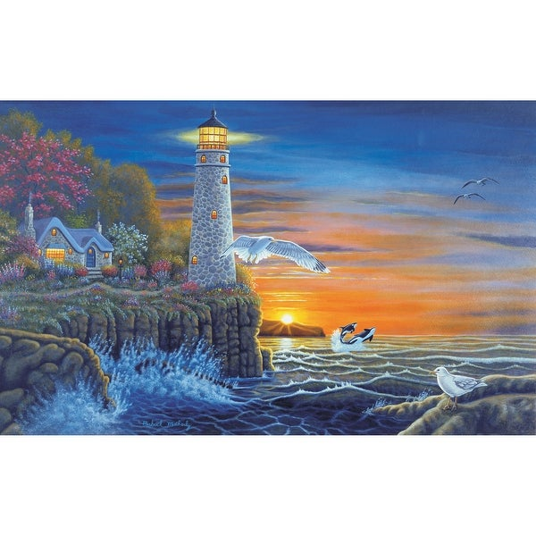 """Paint By Number Kit 15.375""""X11.25""""-Waterside Lighthouse"""
