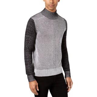 Sean John Mens Pullover Sweater Striped Funnel Neck