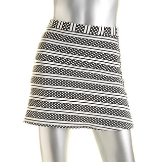 Material Girl Womens Juniors Textured Striped A-Line Skirt - XXS