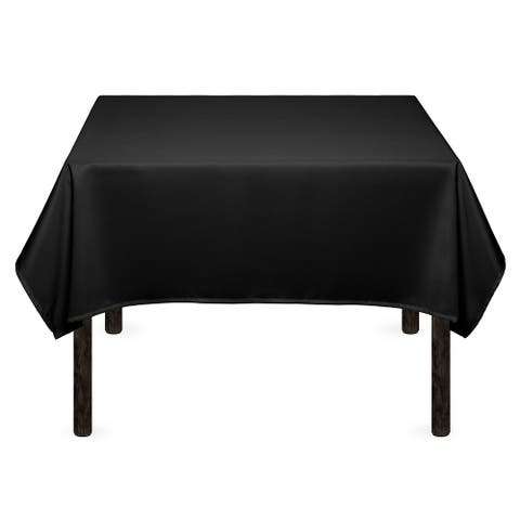 """1-Count 54"""" Premium Square Tablecloth - Black by Mill & Thread"""