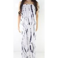 American Rose White Women's Size Medium M Printed Maxi Dress