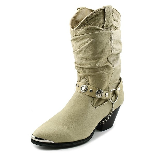 Dingo Pig Slouch w/ Harness Women  Round Toe Leather  Boot