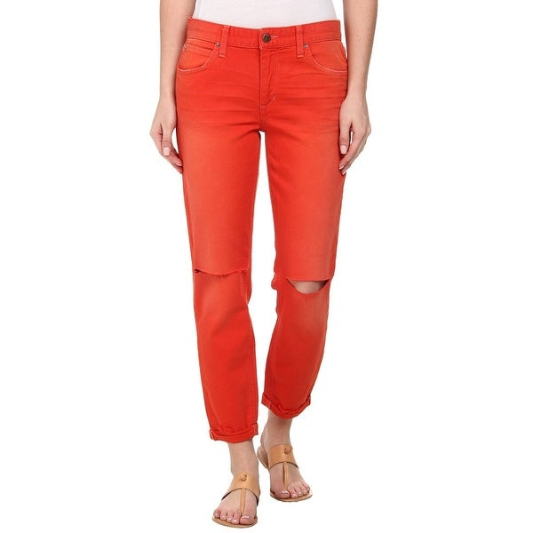 5e686709695 Shop Joe's Orange Women's Size 24X26 Slim Capri Cropped Stretch Jeans - Free  Shipping On Orders Over $45 - Overstock - 20349301