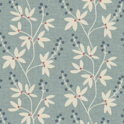 Brewster 2535-20614 Currant Blue Botanical Trail Wallpaper