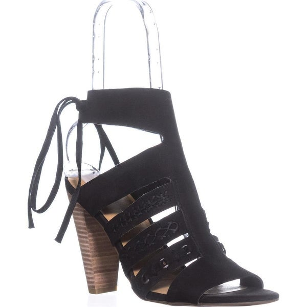 Lucky Brand Radfas Lace-Up Sandals, Black