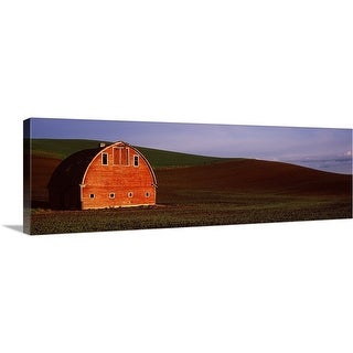 """Barn in a field at sunset, Palouse, Whitman County, Washington State,"" Canvas Wall Art"