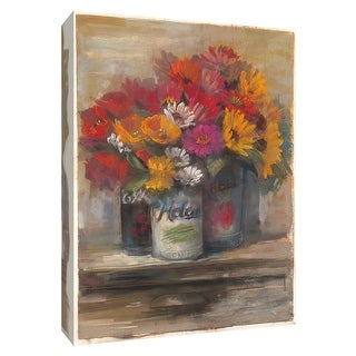 """PTM Images 9-154243  PTM Canvas Collection 10"""" x 8"""" - """"Farmstand Bouquet I"""" Giclee Flowers Art Print on Canvas"""